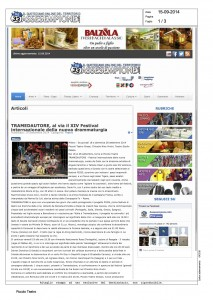 Assesempione, Tramnedautore, al via il XIV Festival della nuova drammaturgia, 15 settembre 2014