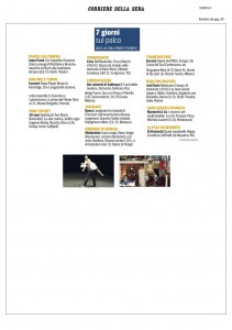 Corriere della Sera, Milano, 7 giorni sul palco, 18 settembre 2014