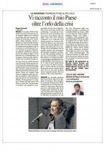 Il Giorno, Milano, Vi racconto il mio paese oltre l'orlo della crisi, 18 settembre 2014