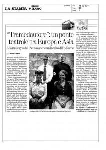 La Stampa, Milano, Tramedautore: un ponte teatrale tra Europa e Asia, 18 settembre 2014